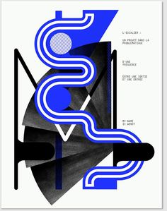 Graphic Design: Letters morph into objects in this striking, abstract typographic project