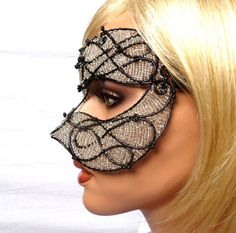 Black and silver masquerade mask,Unisex, mardi gras, costume, accessories, handmade on Etsy, $352.42