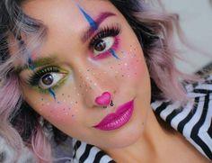 Colorful clown - #Clown #Colorful #schminke Дети На Хэллоуин, Melt Cosmetics, Потрясающий Макияж, Макияж К Костюму, Карнавальный Макияж, Виды Макияжа, Идеи Макияжа, Макияж Каваи, Смешной Макияж