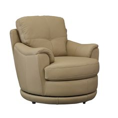 The Sanya Mocha Oversized Swivel Accent Chair from