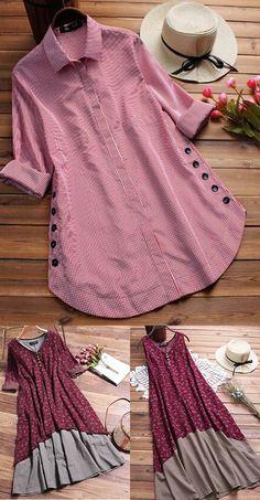 new style clothes Stylish Dresses, Simple Dresses, Casual Dresses, Fashion Dresses, Kurta Designs, Blouse Designs, Diy Clothes, Clothes For Women, Iranian Women Fashion