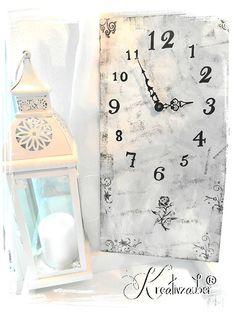 Ziffernblatt gratis ★ inklusive Bastelanleitung für diese Vintage-Uhr ★ all das gibt es hier: http://kreativ-zauber.de/ziffernblatt/