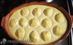 Sütőben sült túrógombóc édes joghurttal recept fotóval
