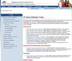 AT Data Collection Tools from the Allegheny Intermediate Unit