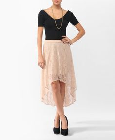High-Low Lace Skirt | FOREVER21 - 2000044490
