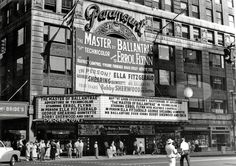 06 - Ella Fitzgerald in Person +Errol Flynn Master of Ballantree August 9 1953 Jazz Concert, Concert Posters, Paramount Theater, New York Pictures, Usa Cities, Ella Fitzgerald, New York Life, Photo Essay