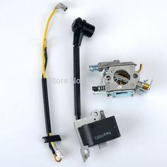 New Ignition Coil Carburetor Carb For Husqvarna 36 41 136 137 141 142 Carburador Bobine Chain Saw parts 530039239