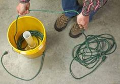 Can also do this for extra hose not on reels. Keeps them contained and untangled.