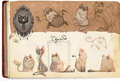 Leonard & Edgar • Art of Celia Kaspar ★ || CHARACTER DESIGN REFERENCES…