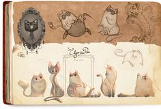 Leonard & Edgar • Art of Celia Kaspar ★ || CHARACTER DESIGN REFERENCES (https://www.facebook.com/CharacterDesignReferences & https://www.pinterest.com/characterdesigh) • Love Character Design? Join the #CDChallenge (link→ https://www.facebook.com/groups/CharacterDesignChallenge) Share your unique vision of a theme, promote your art in a community of over 30.000 artists! || ★