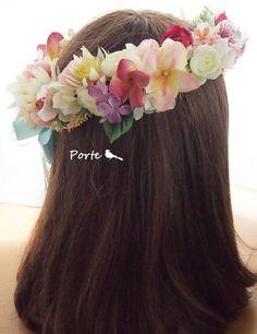 プルメリアのボリューム花冠 ウェディングブーケ・花冠・通販専門店「ぽると」