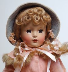 Closeup of Madame Alexander Ana McGuffey doll with Margaret face mold