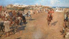 """Théo VAN RYSSELBERGHE (1862-1926), """"Fantasia arabe"""", 1884, huile sur toile, Musées royaux des Beaux-Arts de Belgique, Bruxelles."""