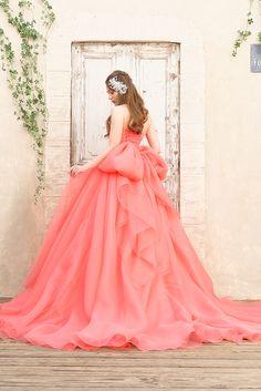 華やかなニュアンスピンクの大人のカラードレス|SS9590CPV