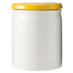 Threshold™ Ceramic Large Food Canister - White/Yellow... perfect for sugar!
