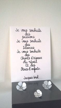 "affiche citation "" Jacques Brel "" : Affiches, illustrations, posters par stefebricole"