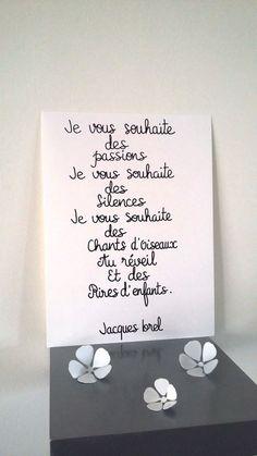 """affiche citation """" Jacques Brel """" : Affiches, illustrations, posters par stefebricole"""
