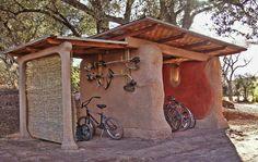Cob carport/bike house