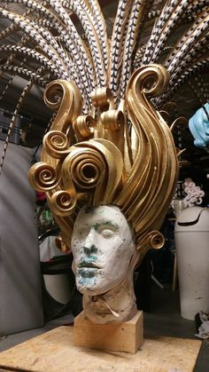 Art Costume, Costume Shop, Costume Makeup, Costumes, Foam Wigs, Avant Garde Hair, Face Mold, Millinery Hats, Wig Making