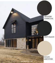 Great Images Modern Farmhouse Style Exterior Paint Colors Suggestions To crea. Great Images Modern Farmhouse Style Exterior Paint Colors Suggestions To create a traditional-lo Best House Colors Exterior, Exterior Paint Color Combinations, Black House Exterior, House Paint Exterior, Exterior Design, Exterior Siding, Mountain Home Exterior, Farmhouse Paint Colors, Paint Colors For Home