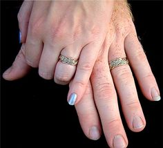Braided Two Tone Wedding Rings and Two Tone Wedding Bands