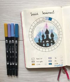"""41 mentions J'aime, 1 commentaires - ραυℓιиє (@misspiloute.bujo) sur Instagram: """"New tracker inspired by @violette.bujo  #sleep #tracker #watercolor #tombowusa #bujo #bujofr…"""""""
