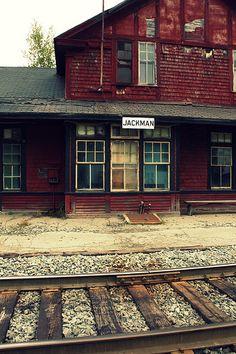 jackman railroad station, jackman, maine | travel destinations in the united states #wanderlust
