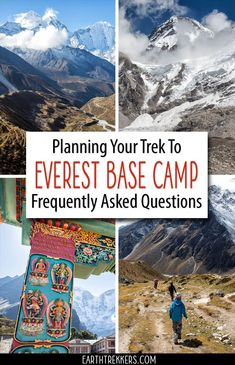 Everest Base Camp Travel Guide with answers to the most frequently asked questions. #everest #ebc #everestbasecamp #trekking