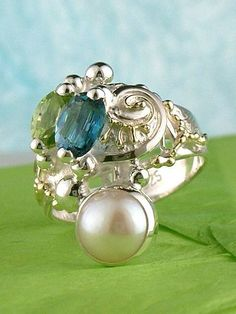 RT or Repin this Now Gregory Pyra Piro #Sterling #Silver and #Gold #Ring 5848