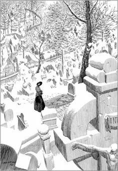 Illustration for Mary Shelley's Frankenstein, by Bernie Wrightson.