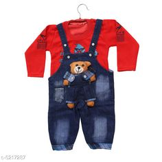 Oneseis & Rompers Trendy Kid's Dungarees Trendy Kid's Dungarees Country of Origin: India Sizes Available: 2-3 Years, 3-4 Years, 4-5 Years, 12-18 Months, 1-2 Years   Catalog Rating: ★4 (3484)  Catalog Name: Doodle Trendy Cotton Kid's Rompers Vol 14 CatalogID_772343 C59-SC1184 Code: 533-5217287-618