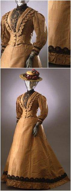 Dress in two parts (bodice and skirt), unknown maker, 1892-94, at the Pitti Palace Costume Gallery. Via Europeana Fashion.