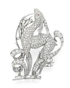 AN ART DECO DIAMOND AND RUBY BROOCH – Christie's