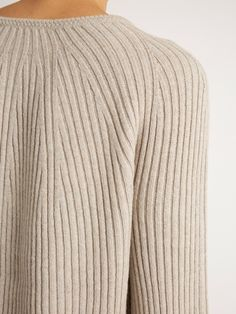 Helmut Lang Flared-sleeve wool and cashmere-blend sweater