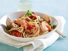 Grilled Seafood Pasta Fra Diavolo Recipe : Giada De Laurentiis : Food Network - FoodNetwork.com