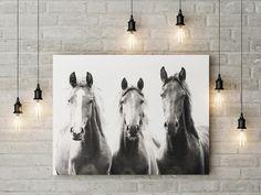 Horses art print | Horse faces | modern Sepia Horses photo | Printable wall art | Farm Horse decor | Jungle animals decor | African animals