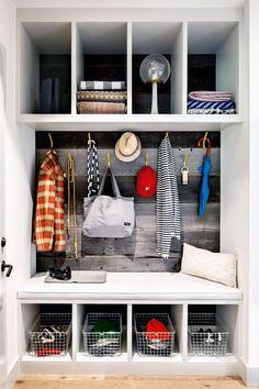 Mud room coat rack mudroom shoe rack shoe rack for entryway inch wide ent. Small Coat Closet, Coat Storage Small Space, Coat Closet Organization, Entry Organization, Closet Storage, Entry Closet, Closet Doors, Entryway Storage, Organized Entryway