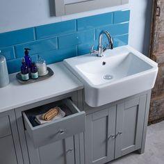 Bring back classic style to your bathroom with the Lansdown semi-countertop unit Countertop Basin, Countertops, Built In Vanity, Bathroom Suppliers, Basin Unit, Tavistock, Bathroom Inspiration, Bathroom Ideas, Pebble Grey