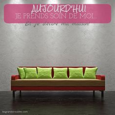 JOUR 14 : JE DÉCORE MA MAISON! Love Seat, Couch, Furniture, Home Decor, 30 Day, Take Care Of Yourself, Home Decoration, Settee, Decoration Home