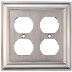 Allen And Roth Wall Plates Brilliant Shop Allen  Roth 1Gang Satin Nickel Standard Toggle Metal Wall Design Ideas