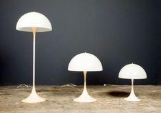 VERNER PANTON Panthella lamps  Marque : Louis Poulsen Designer : Verner Panton 570,00 € Dimensions : Hauteur = 580 mm Diamètre base = 250 mm Diamètre abat-jour = 400 mm.