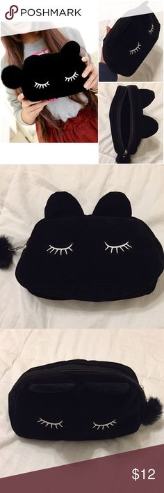 "Cartoon Cat Makeup Bag Cartoon Cat Makeup Bag/Coin Purse  New in Package. I bought a few for gifts, but bought too many.  Approximately 7.48"" x 1.97"" x 4.72   Questions? Please ask prior to purchasing. Bundle & Save!  Bags Cosmetic Bags & Cases"