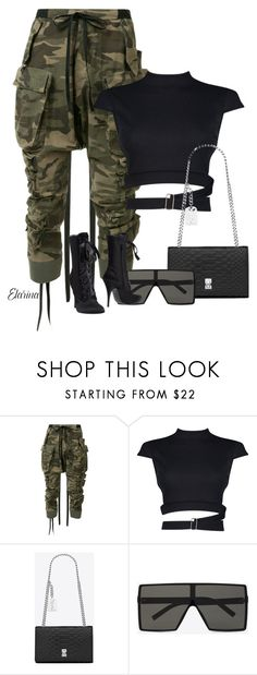 """""""Untitled #385"""" by elarina ❤ liked on Polyvore featuring Unravel, Boohoo, Yves Saint Laurent and Giuseppe Zanotti"""