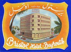 Artist Unknown poster: Bristol Hotel - Beyrouth (Luggage Label)