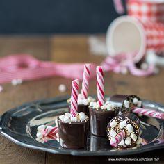 Heiße Schokolade am Stiel Cocktail Drinks, Cocktails, World Recipes, Snacks, Birthday Candles, Party, Breakfast, Desserts, Teller