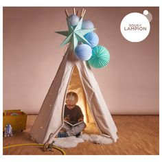 kit de lampions pour d corer un tipi ou une chambre de petit gar on bapt me pinterest d co. Black Bedroom Furniture Sets. Home Design Ideas