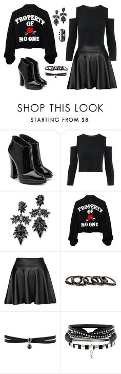 """""""Sem título #66"""" by badgarl ❤ liked on Polyvore featuring Giuseppe Zanotti, Fallon and Free Press"""