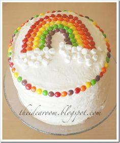 Rainbow Cake Recipe from The Idea Room