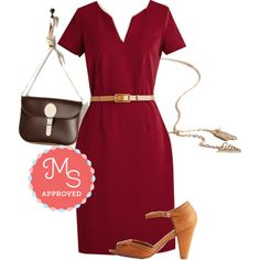 Engaging Executive Dress by modcloth on Polyvore featuring Restricted, Brit-Stitch, Summer, outfit and modcloth