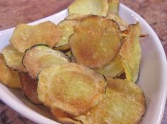 Zucchini Chips! so crispy and delicious...with a key ingredient (GF flour)